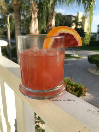 Relax after work with a blood orange whiskey smash.