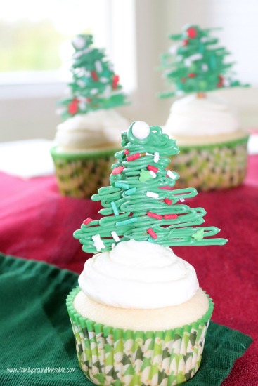 White Christmas Cupcakes with White Chocolate Peppermint Buttercream