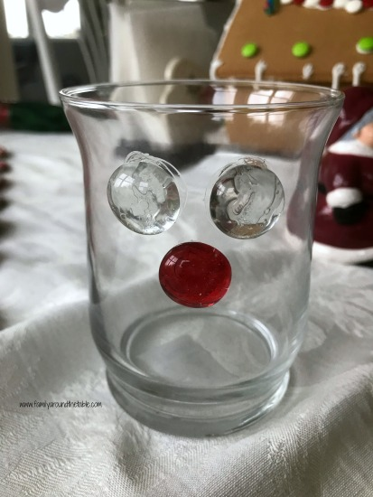 DIY Reindeer candle holder or candy dish.