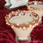 A decadent salted caramel toffee martini to celebrate the season.