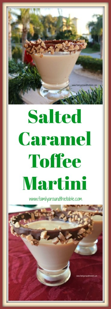 Salted Caramel Toffee Martini is a festive drink for any holiday party. #ChristmasSweetsWeek
