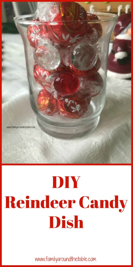 DIY Reindeer candle holder is easily made with items from Dollar Tree. #DollarTreeHoliday