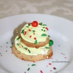 Brown Sugar Pecan Christmas Tree Cookies