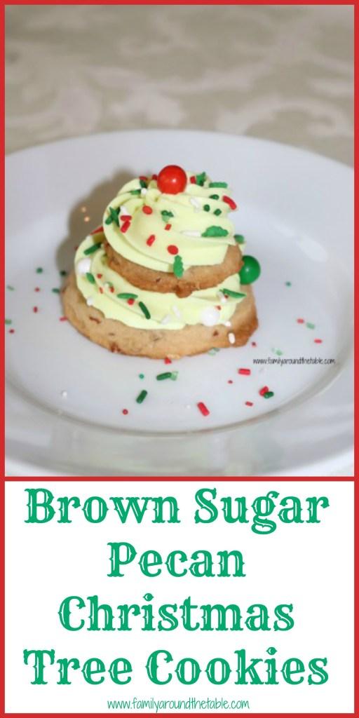 Brown Sugar Pecan Christmas Tree Cookies make a fun dessert for anyone! #ChristmasCookiesWeek
