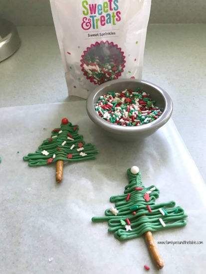 Christmas tree toppers for cupcakes.