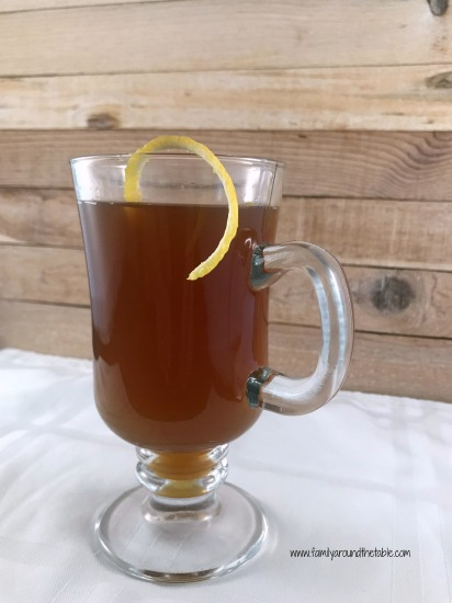 A honey bourbon hot toddy is the perfect way to warm up on a chilly day. Especially if you've been out playing in the snow.