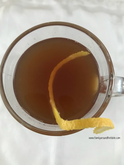 A honey bourbon hot toddy will warm you up on a cold day. It's also comforting when you're under the weather.