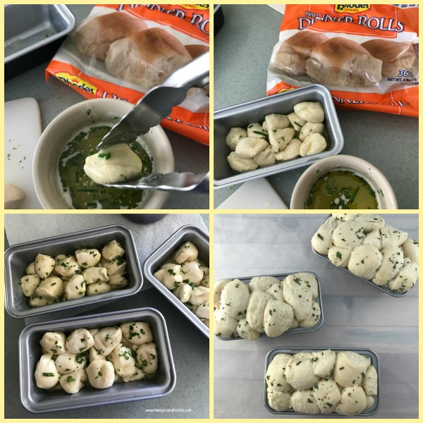 Individual parsley chive bubble breads are so easy to make. Delicious to eat too!