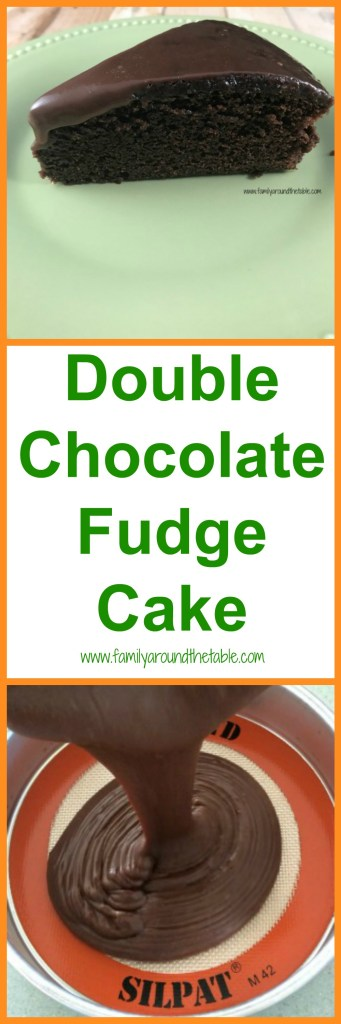 Double chocolate fudge cake is rich and delicious. Perfect for any special occasion. Serve it on a brunch dessert table. #ad #EasterBrunchWeek #madewitheb #mysilpat
