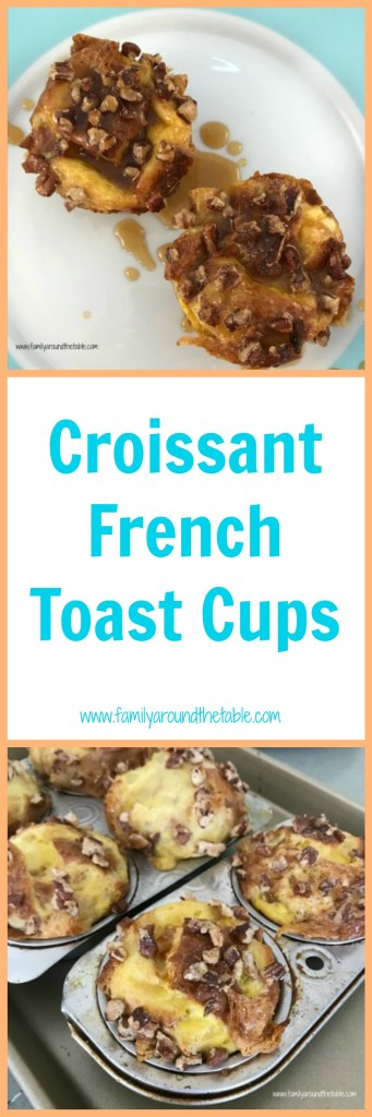 Croissant French toast comes together quickly giving you time to spend with guests while it bakes. #ad #Brunchweek