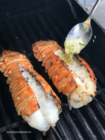 Flavorful herb grilled lobster tails are a treat.
