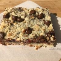 Chocolate Chip Raspberry Pecan Bars