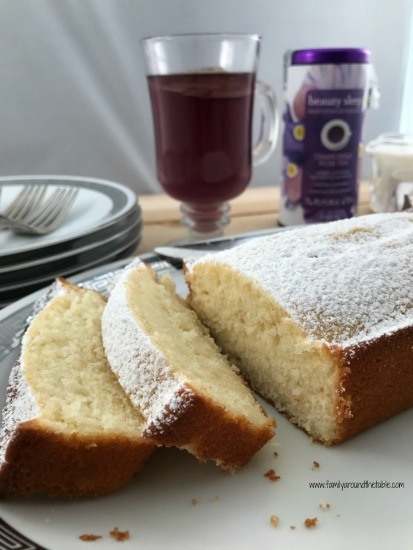 Velvety texture with hints of floral and a bit of sweet in this rose water tea cake.