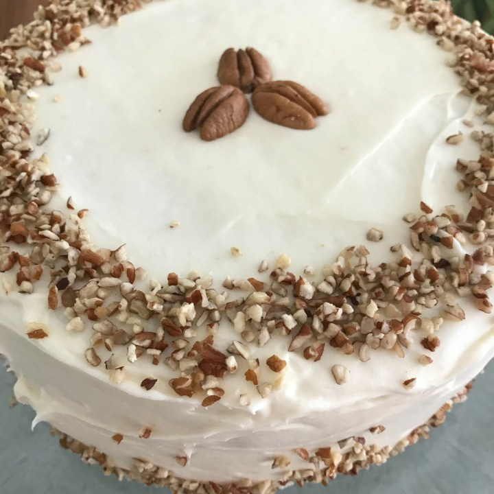 Italian Cream Cake with Nutty Cream Cheese Frosting