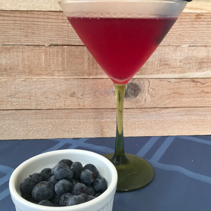 Blueberry Lemon Vodka Martini