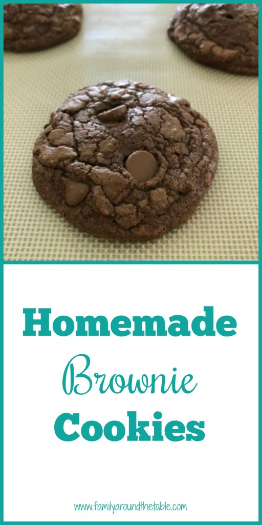 Brownie cookies are a chocolate lovers dream. A chocolate cookie full of chocolate chips that taste like a brownie.