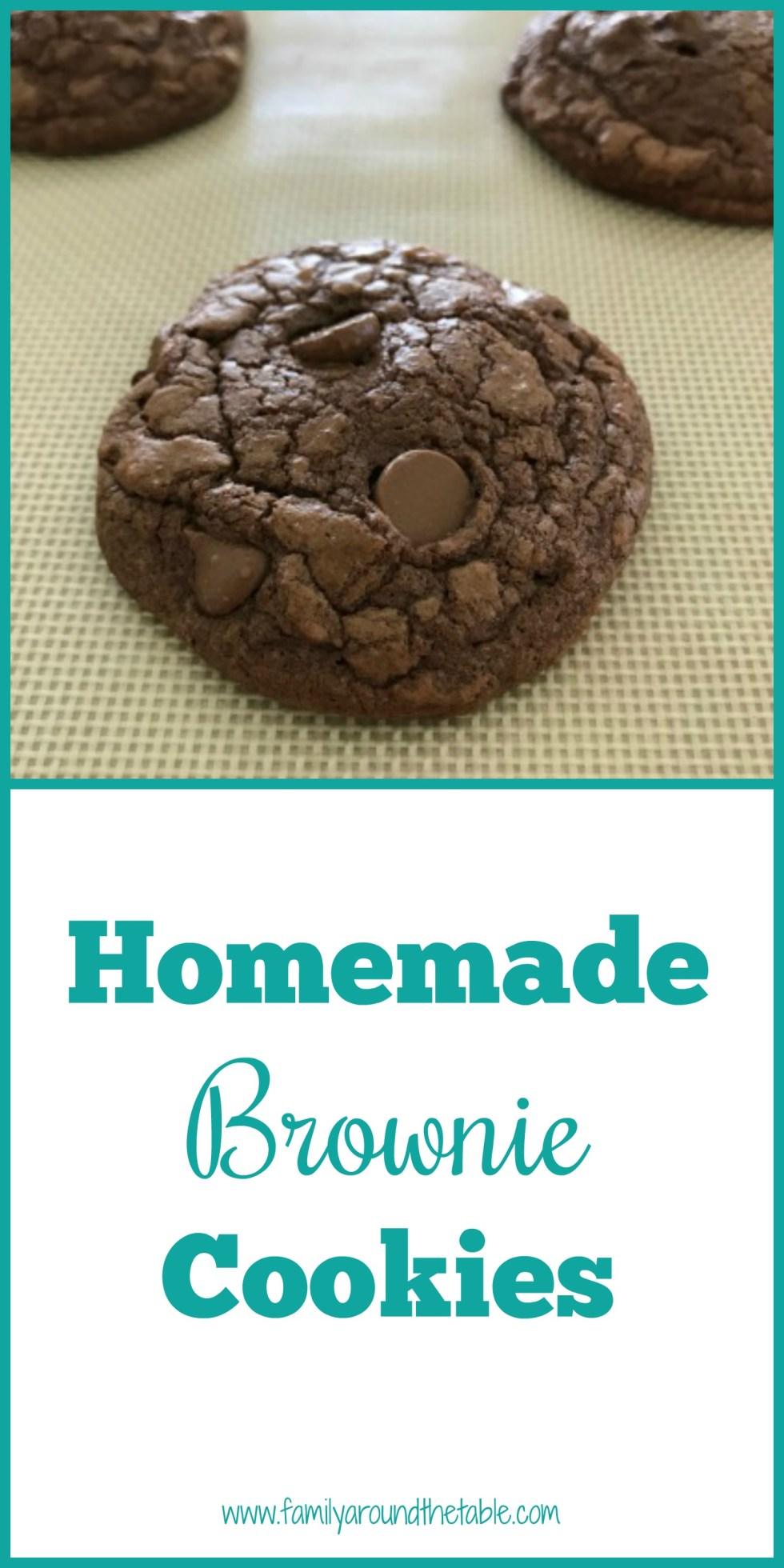 Brownie cookies pinterest image