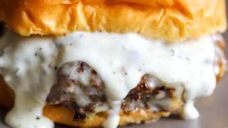 Garlic Overboard Burgers with Creamy Garlic Burger Sauce