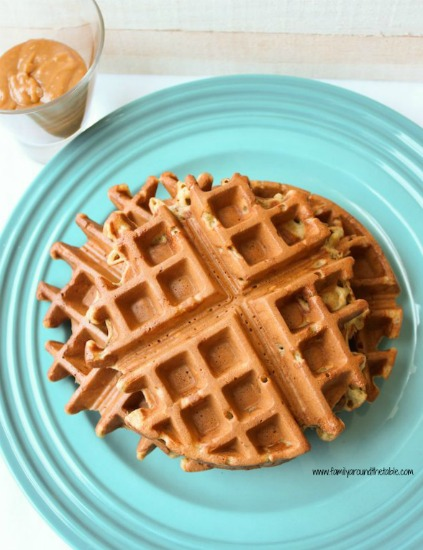 Banana spice waffles are full of warm cinnamon and nutmeg flavors that, paired with banana, make for a delicious waffle.