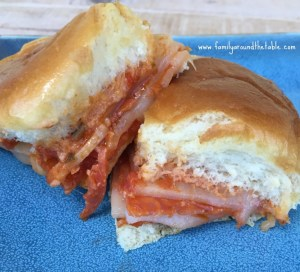 Pepperoni Cheese Pizza Sliders are perfect for many occasions like game day, sleepovers and anytime a snack is needed.