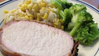 Jenny's Grilled Pork Loin With Bacon