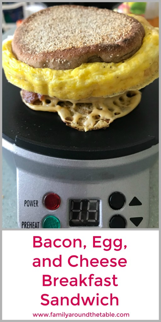 Start the day with a delicious breakfast sandwich made in the #HamiltonBeach sandwich maker. #ad #Back2Schoo