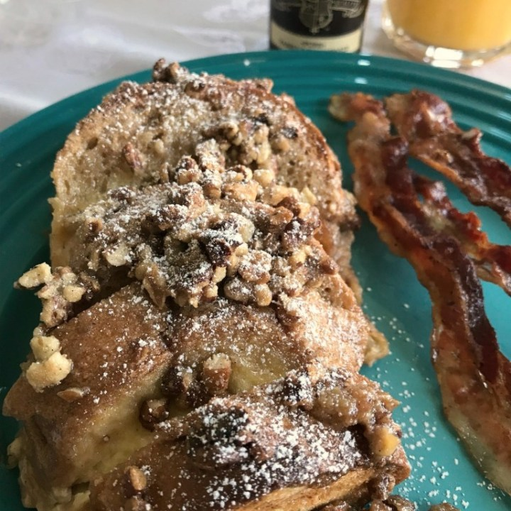 Very Vanilla French Toast Bake with Butter Pecan Topping