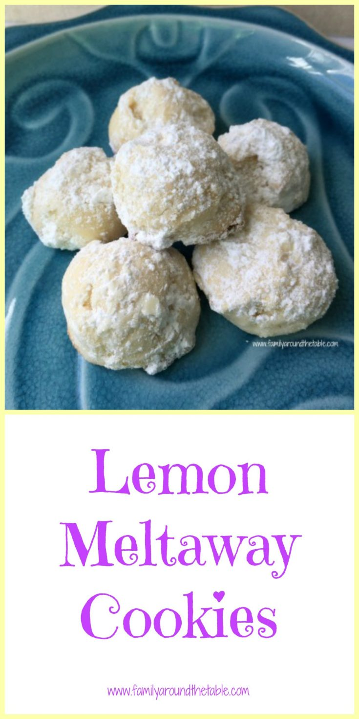 Lemon meltaway cookies truly melt in your mouth. A delicate and lemony cookie perfect with tea. #FarmersMarketWeek
