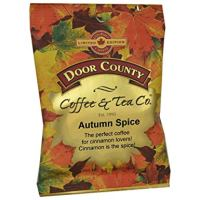 Door County Coffee Fall Seasonal Blend, Autumn Spice, Ground, 1.5oz Full-Pot Bags, 6 Count