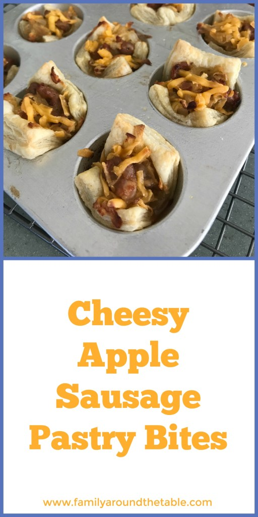 Cheesy apple sausage pastry bites are perfect to serve at a cocktail party. #biteandbelieve #cookingwithenvy