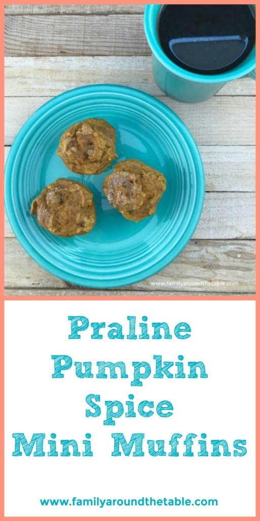 Take a few praline pumpkin mini muffins to work for a mid-day snack. #FallFlavors #ad