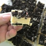 Cookies and cream fudge makes a great option for a potluck dessert or party.