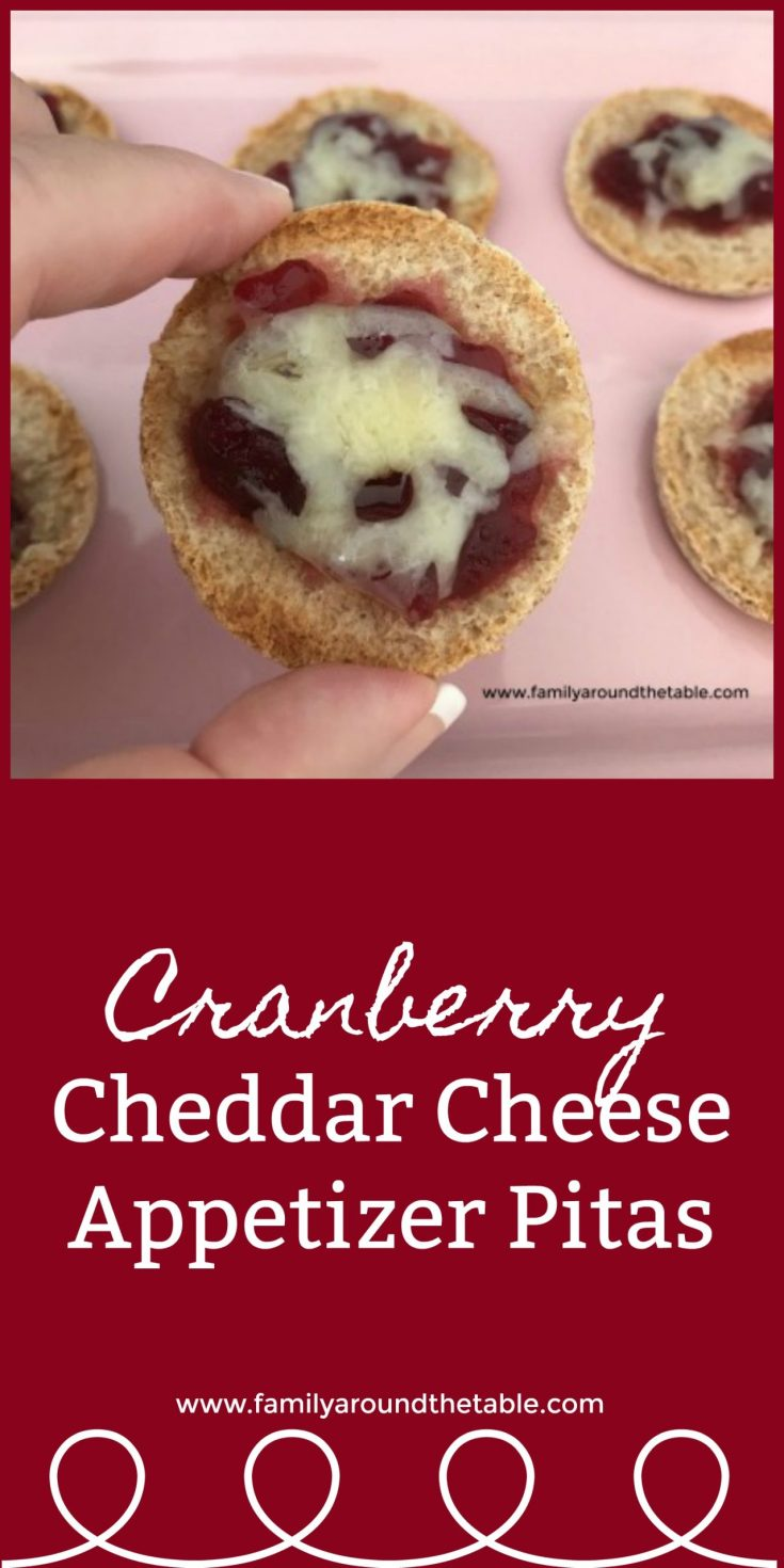 Cranberry Cheddar Cheese Appetizer Pitas - An easy appetizer for any party. #CranberryWeek