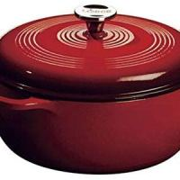 Lodge 6 Quart Enameled Cast Iron Dutch Oven. (Island Spice Red)