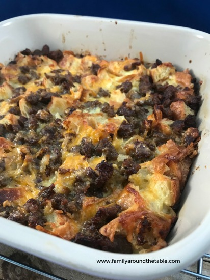 Maple Sausage Croissant Casserole is a delicious way to wake up any morning.