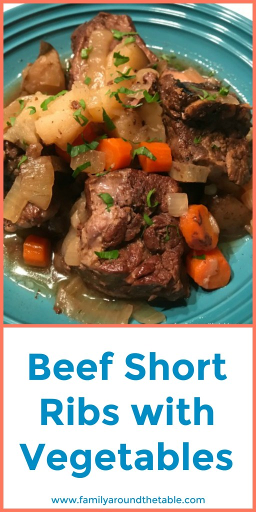 Beef short ribs with vegetables is comfort food at it's best.