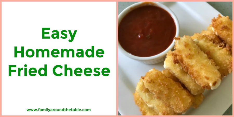 Easy steps to make easy homemade fried cheese.
