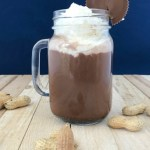 Spiked peanut butter hot chocolate will warm you up on a chilly night.