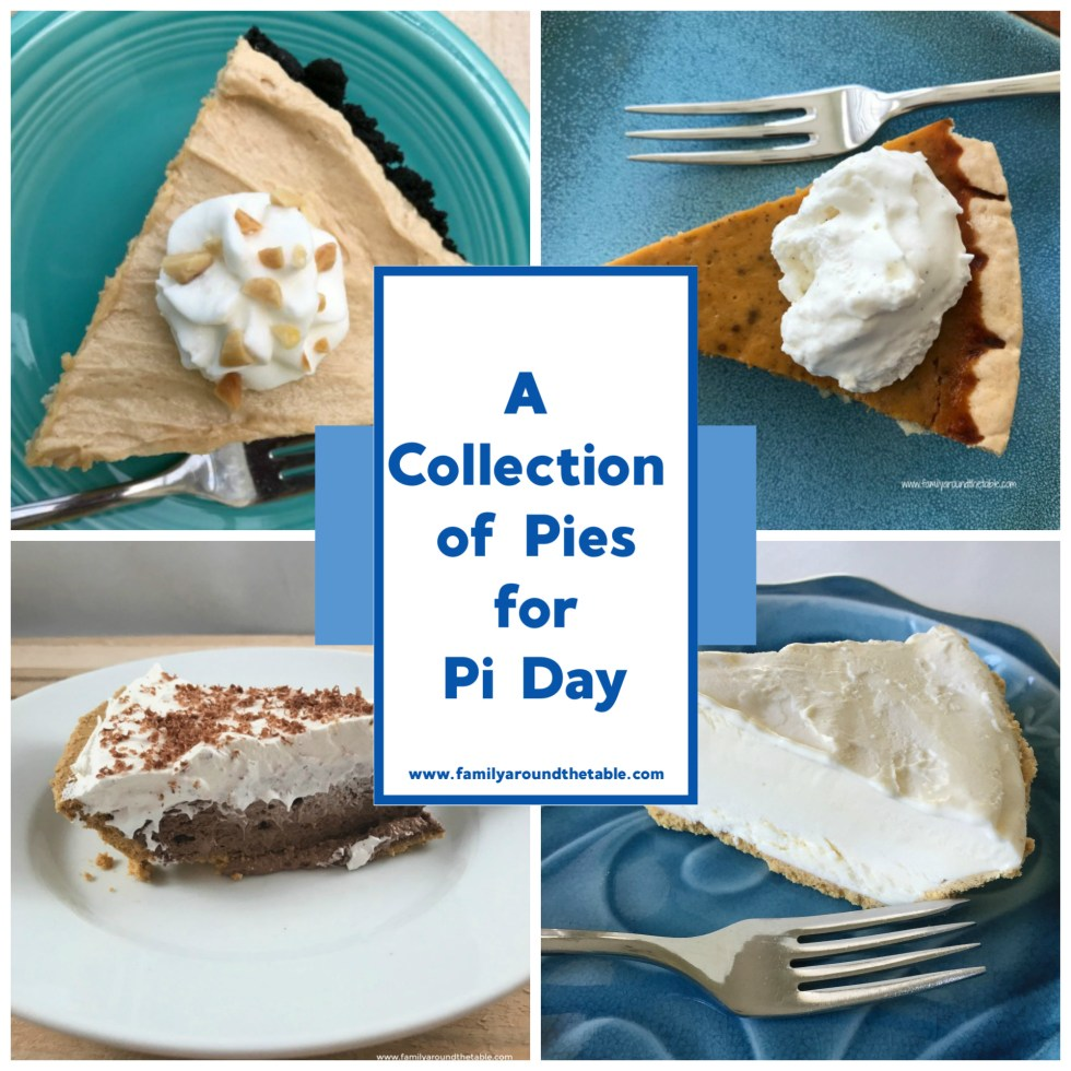 A collection of pies for Pi Day.