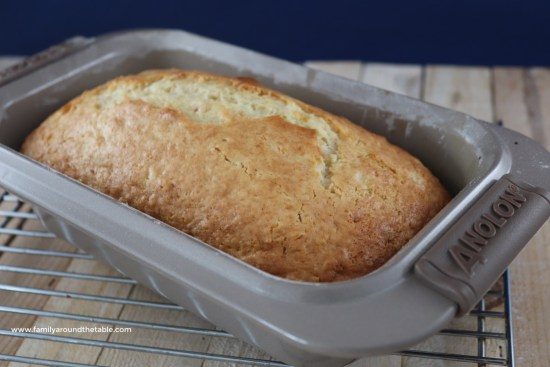 Coconut pineapple bread warm from the oven.