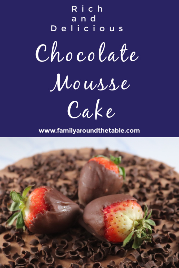 Decadent, impressive and delicious is the only way to describe chocolate mousse cake.