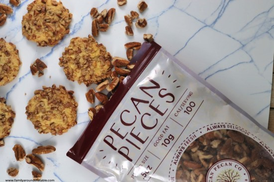 Orange Pecan Cookies have a subtle orange flavor with a crunch from the pecans.