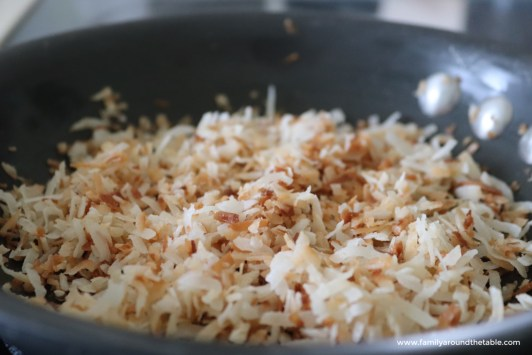 How to toast shredded coconut.