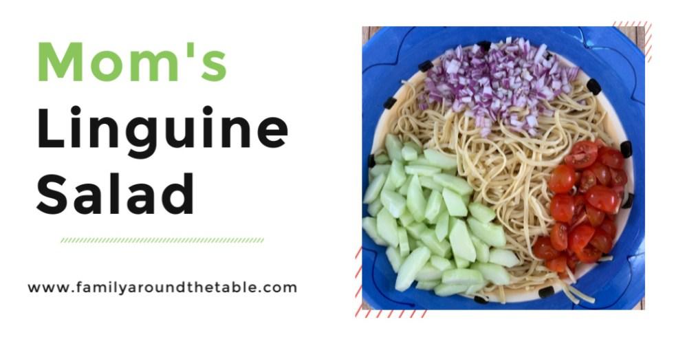 Mom's linguine salad twitter image
