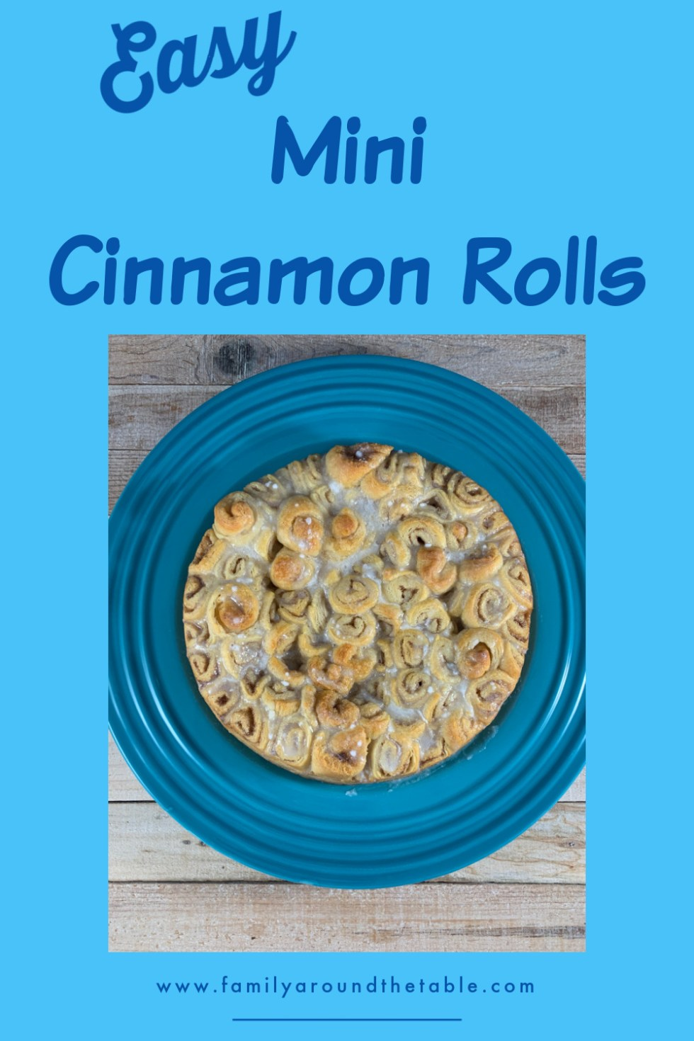 Mini Cinnamon Rolls Pinterest image