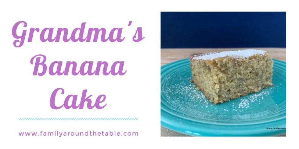Grandma's Banana Cake Twitter Image