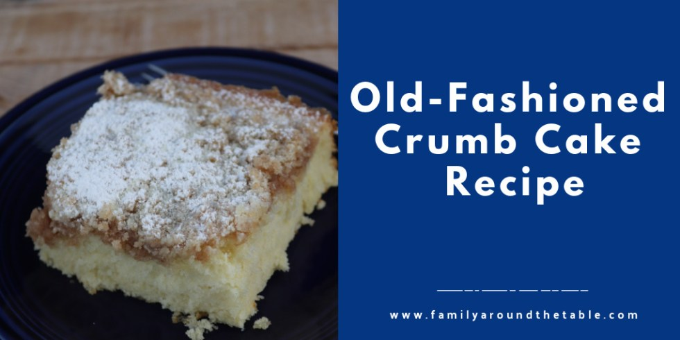 Old Fashioned Crumb Cake Twitter Image