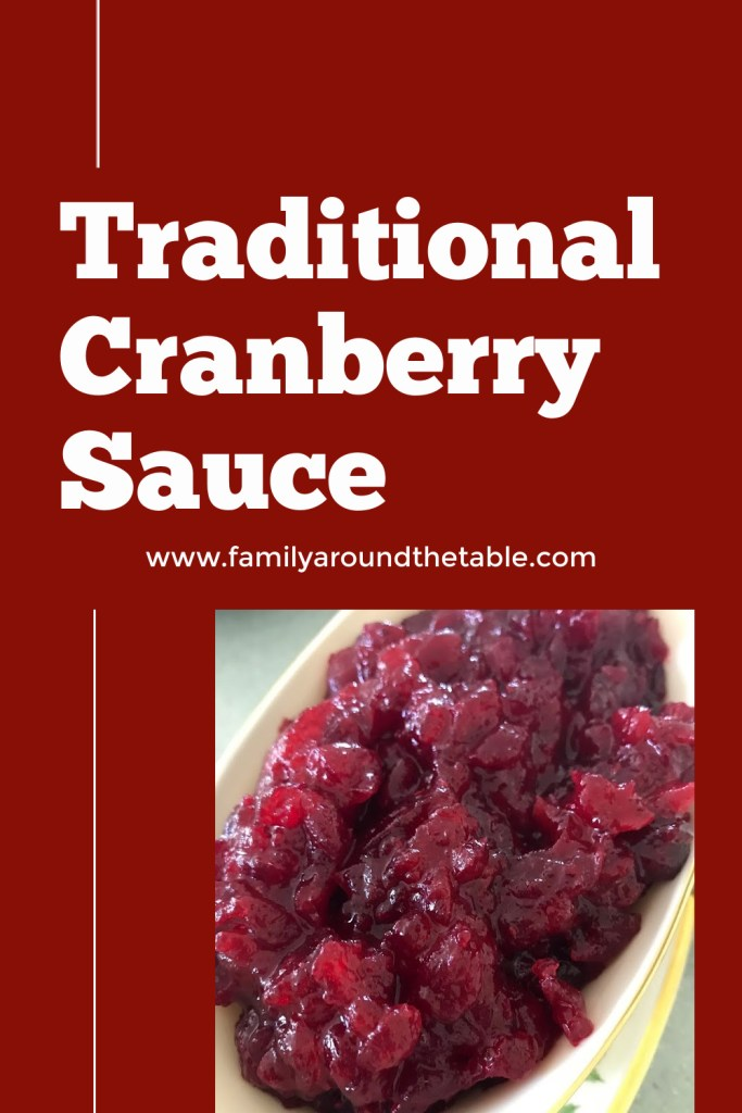 Traditional Cranberry Sauce Pinterest image.