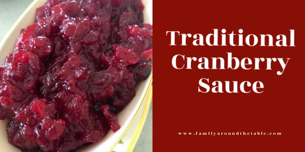 Traditional Cranberry Sauce Twitter image.