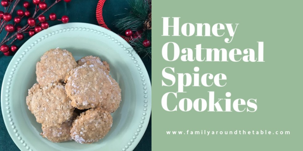 Honey Oatmeal Spice Cookies Twitter Image